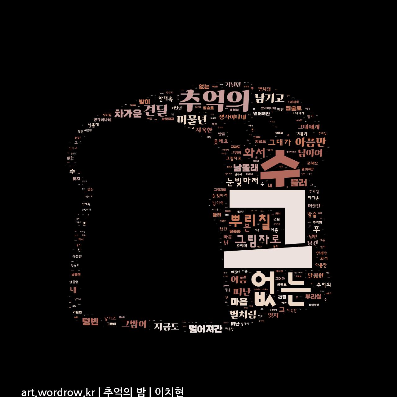 워드 아트: 추억의 밤 [이치현]-51